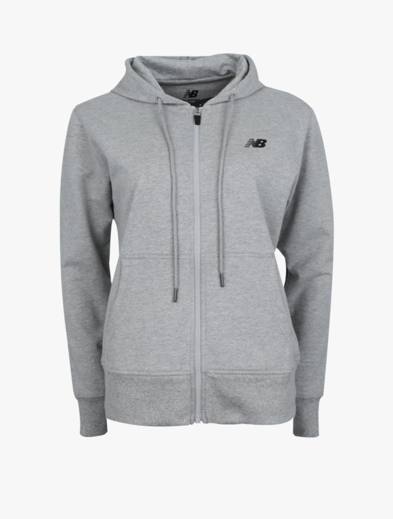 aa28c9f889 New Balance Essential Stacked Logo Women's Hoodie - Grey