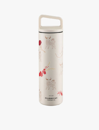Starbucks Waterbottle Stainless Steel  20ss Ox And Flower S11119407  ( Water Bottle Hot / Cold )0