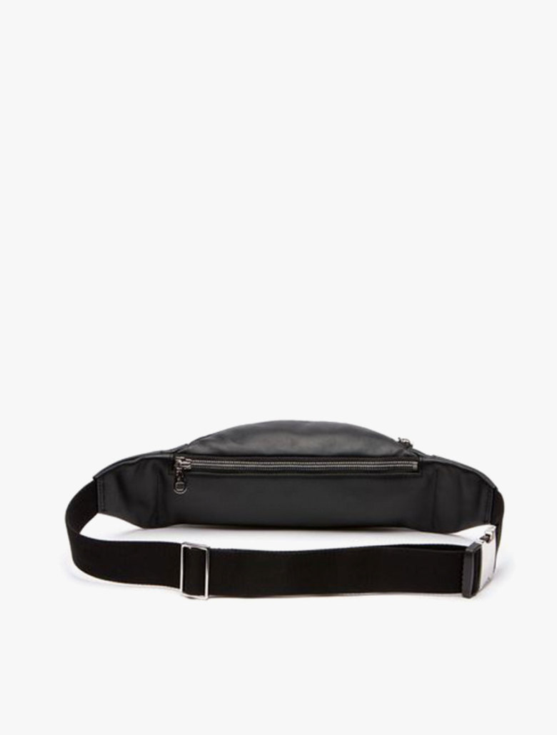 fb23c43a0c Men's L.12.12 Casual Embossed Lettering Leather Zip Fanny Pack