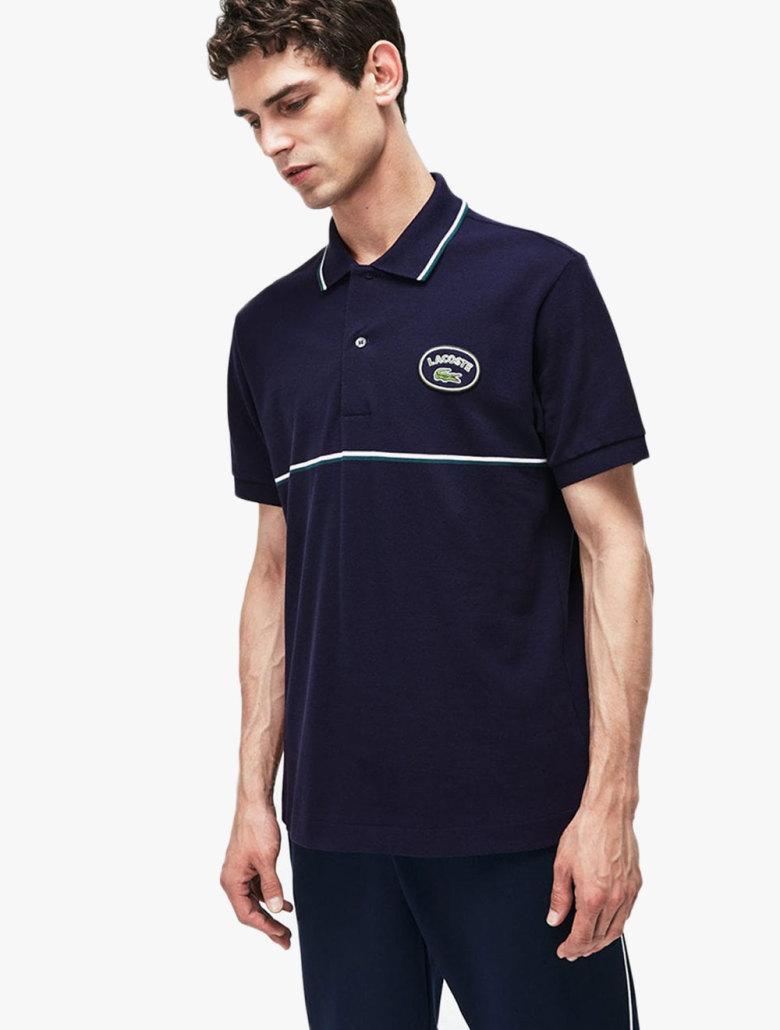 ad99ed0e Men's Lacoste Slim Fit Striped Accents Petit Pique Polo Shirt