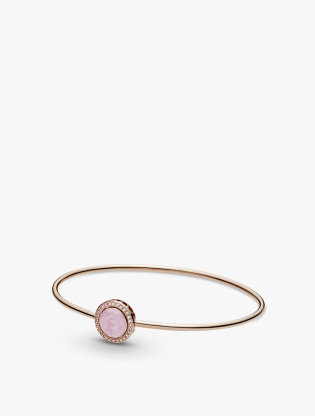 Pandora Rose bangle with Fancy fairy tale pink cubic zirconia and rose enamel0