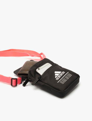 Adidas Men's Classic Organizer Bag - Black/Signal Pink2