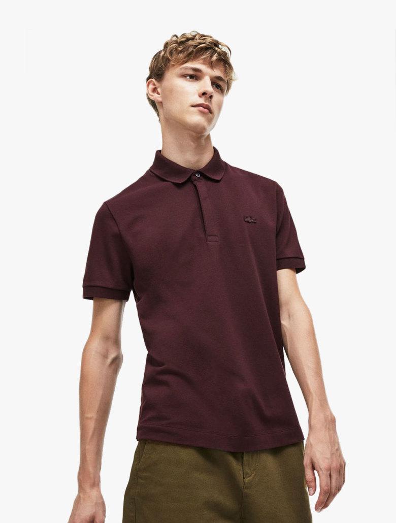 846acf2e91 Men's Lacoste Paris Polo Shirt Regular Fit Stretch Cotton Pique