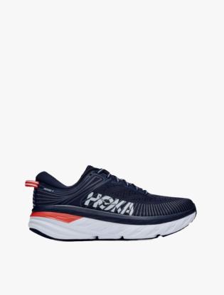 Hoka One One  BONDI 7 Women's Running Shoes - Blue Fog/Ombre Blue4