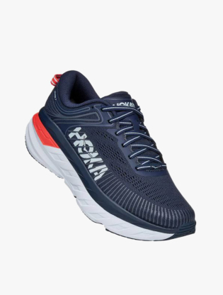 Hoka One One  BONDI 7 Women's Running Shoes - Blue Fog/Ombre Blue6