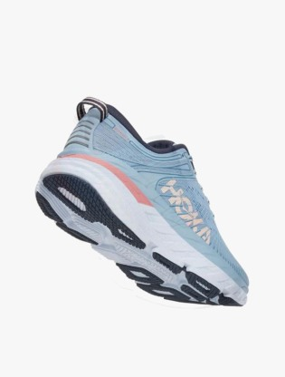Hoka One One  BONDI 7 Women's Running Shoes - Blue Fog/Ombre Blue2
