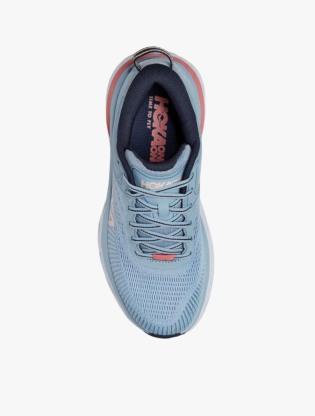 Hoka One One  BONDI 7 Women's Running Shoes - Blue Fog/Ombre Blue3