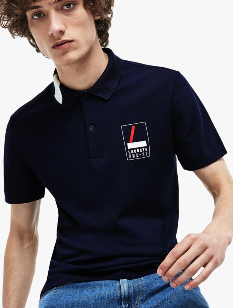 d654cd4587 Men's Lacoste Slim Fit Lettering Stretch Mini Pique Polo Shirt