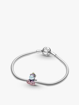 Unicorn Sterling Silver Charm With Transparent Blue, Green, Purple And Pink Enamel4