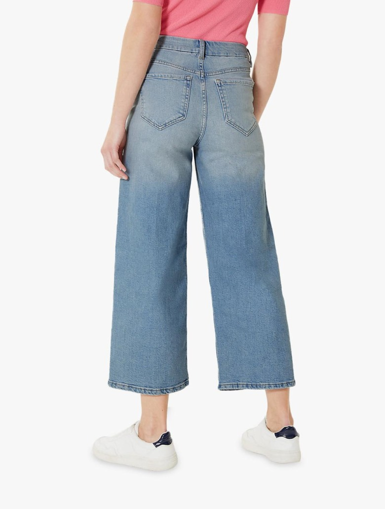 choose authentic shopping agreatvarietyofmodels High Waist Wide Leg Cropped Jeans