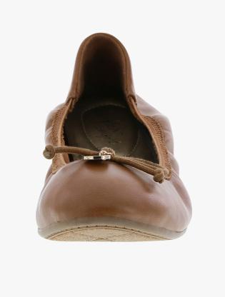 dexflex Comfort Women's Caroline String Tie Flat - Cognac_156