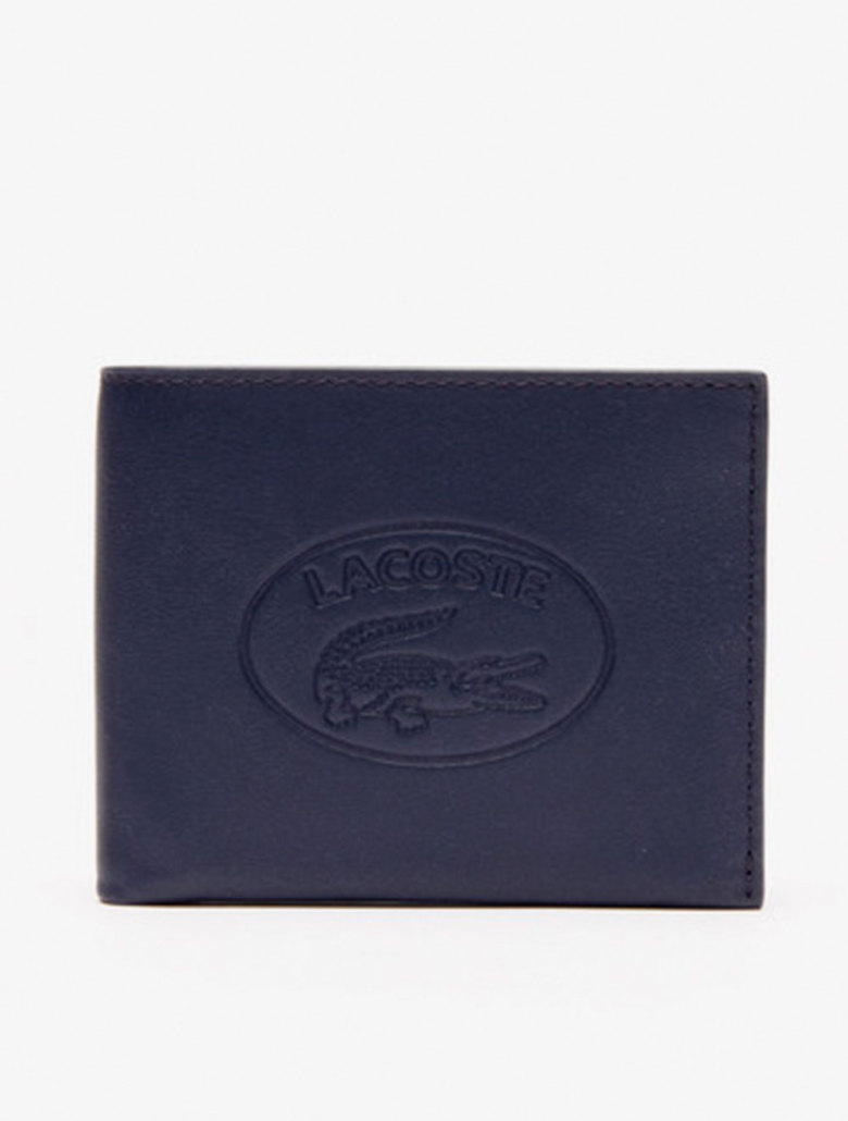 f09a862a01 Men's L.12.12 Casual Embossed Lettering Leather 6 Card Wallet