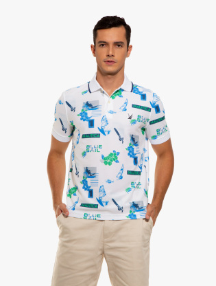 Classic Fit Print Polo0