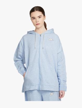 Nike Sportswear Women's Full-Zip Hoodie - LT ARMORY BLUE/HTR/WHITE0
