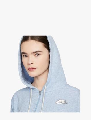 Nike Sportswear Women's Full-Zip Hoodie - LT ARMORY BLUE/HTR/WHITE2