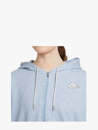 Nike Sportswear Women's Full-Zip Hoodie - LT ARMORY BLUE/HTR/WHITE3