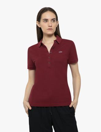 b424ee0c10ee LACOSTE · Women's Lacoste Slim Fit Stretch Mini Cotton Piqué Polo Shirt