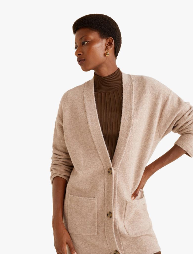682869df942d Betsy Long Wool-blend Cardigan