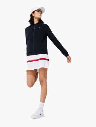 Women's Lacoste SPORT Hooded Fleece Zip Tennis Sweatshirt0