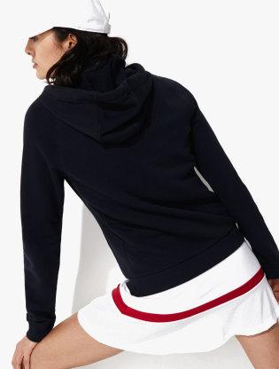 Women's Lacoste SPORT Hooded Fleece Zip Tennis Sweatshirt1