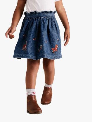 Cotton Animal Applique Skirt0