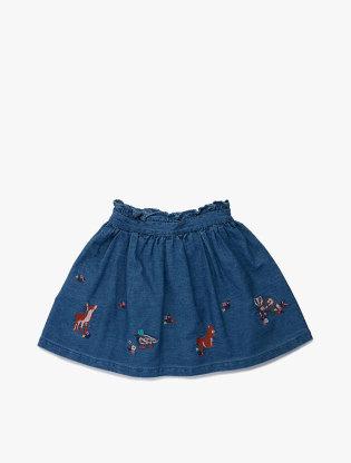 Cotton Animal Applique Skirt2
