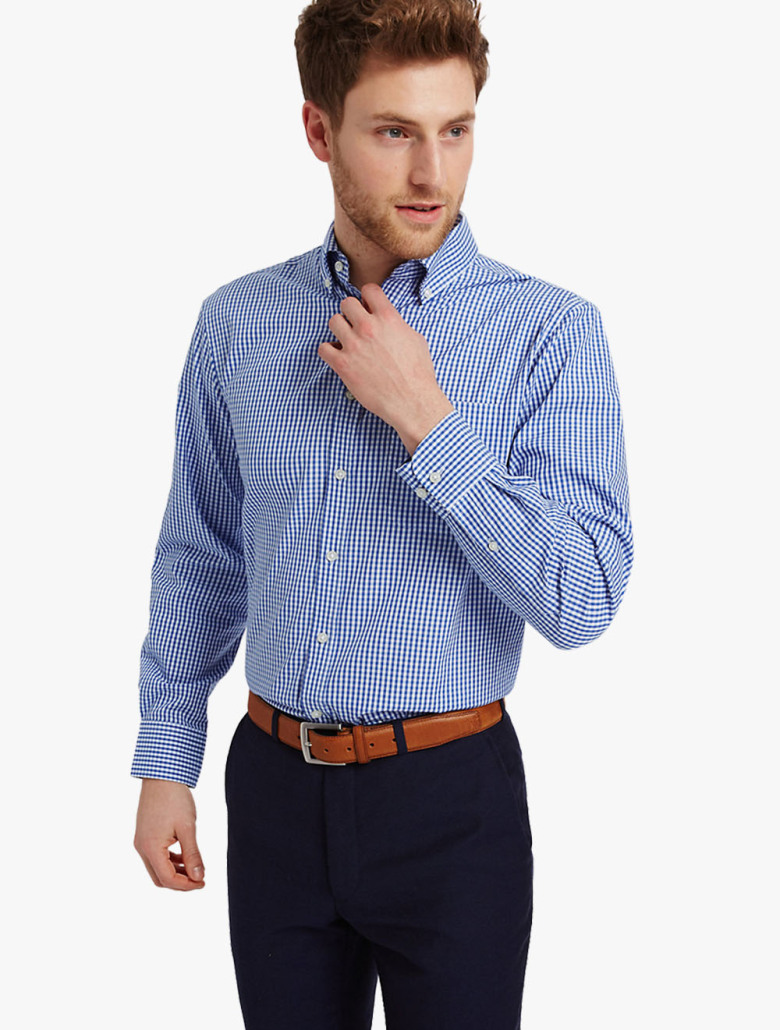 Pure Cotton Oxford Shirt With Pocket