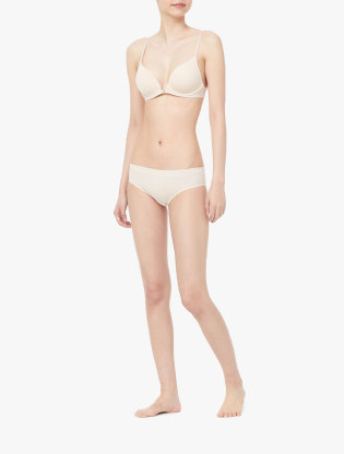 CK Underwear - Ck Black Barelings Lightly Lined Plunge Bra1