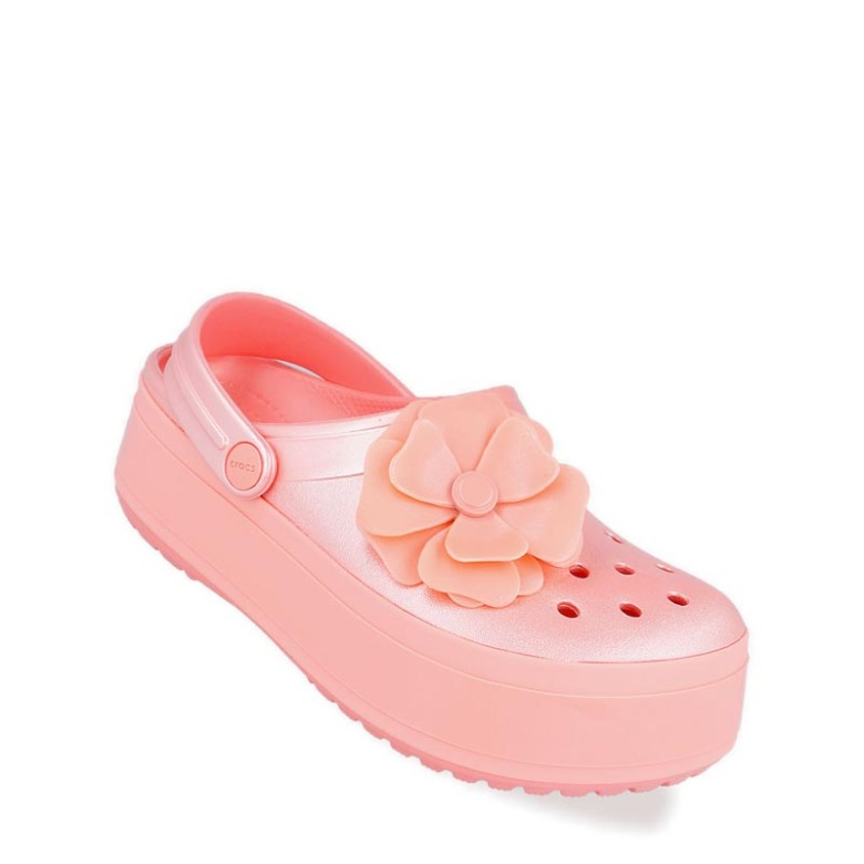 28558aa864 Crocs Crocband Platform Vivid Blooms Clog Unisex Sandal