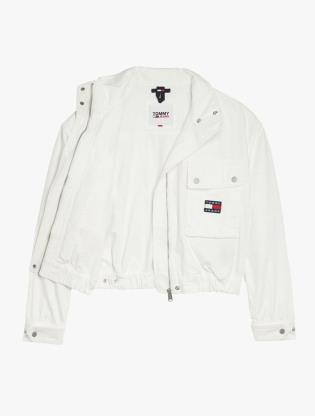 Tommy Badge Canvas Cropped Utility Jacket2