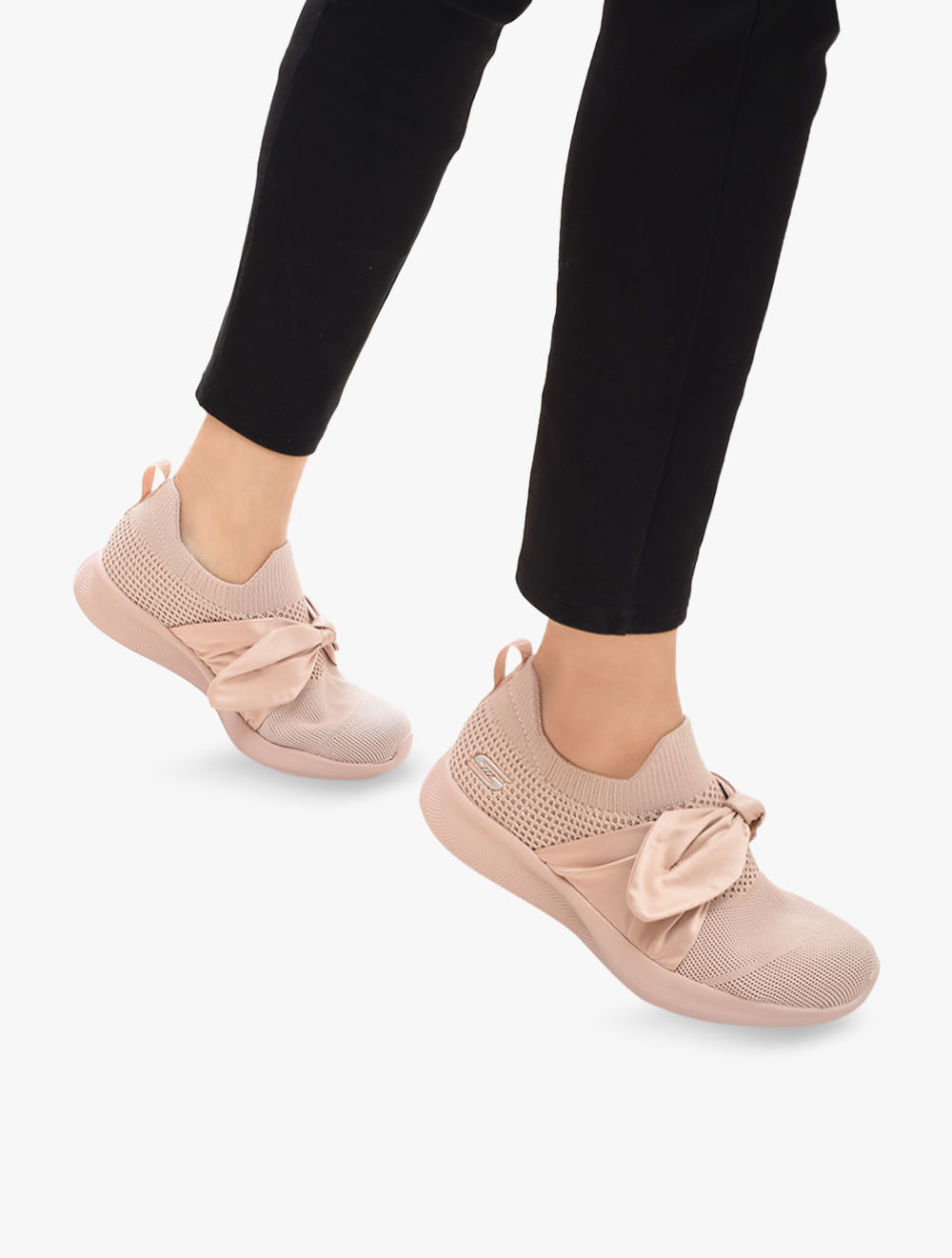 skechers pink bow