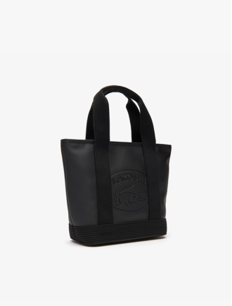 0fe9b77a701 LACOSTE · Women's Classic Coated Pique Canvas Zip Small Tote Bag