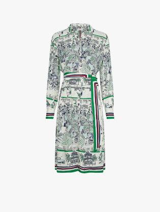 Pure Silk Scarf Print Dress0