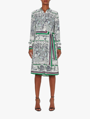 Pure Silk Scarf Print Dress1