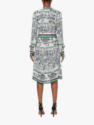 Pure Silk Scarf Print Dress3