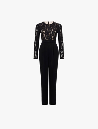 c876d49bfe9 FOREVER NEW. Michelle Lace Sleeve Jumpsuit