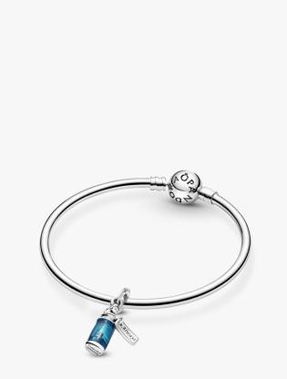 Disney Alice In Wonderland Sterling Silver Dangle With Transparent Blue Enamel4