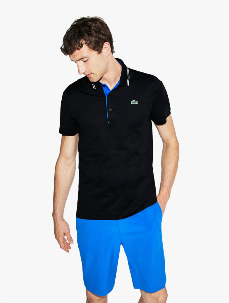 872a0ae76c Men's Lacoste Sport Lettering Stretch Technical Jersey Golf Polo Shirt