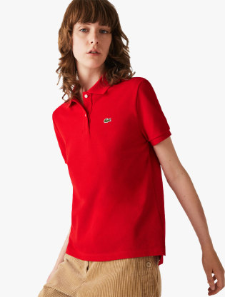 Women's Lacoste Classic Fit Soft Cotton Petit Piqué Polo Shirt0