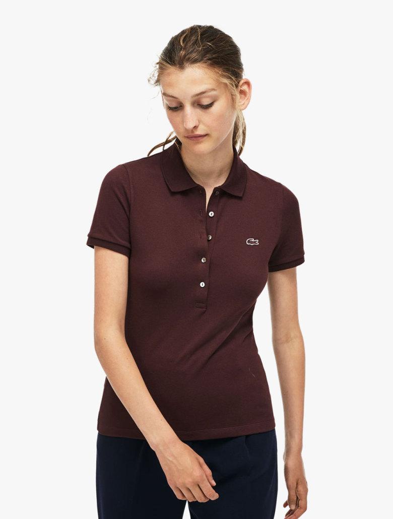 b695d8adcd Women's Lacoste Slim Fit Stretch Mini Cotton Pique Polo Shirt