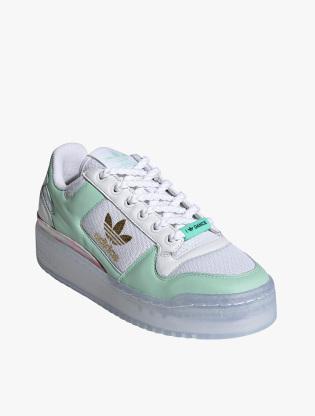 Adidas Forum Bold Shoes Women's Sneakers Shoes - Ftwr White/Frozen Green/Matte Gold1
