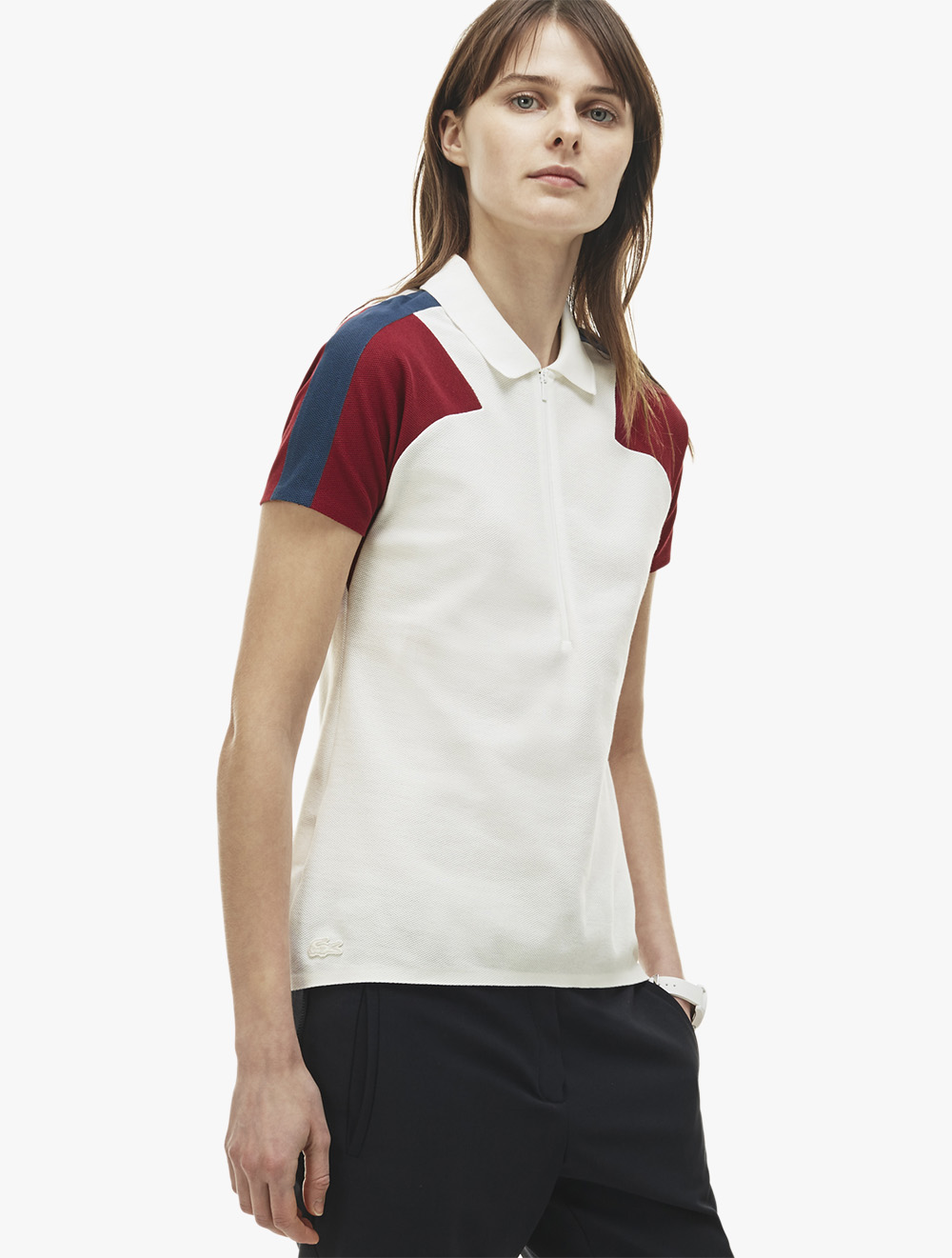 In Fit Made Polo Slim Pique France Neck Zip F51TKJ3ulc