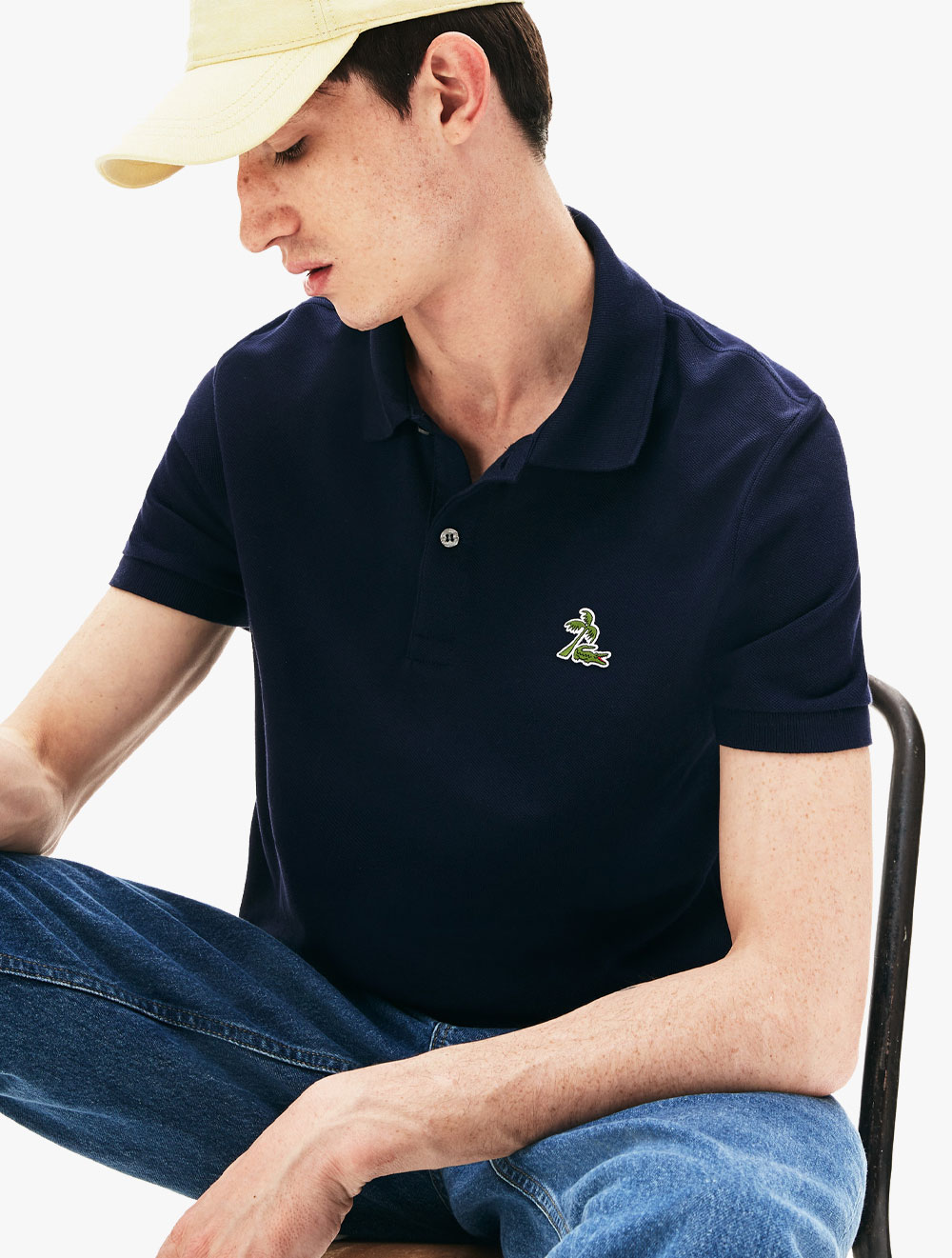 Fit Palm Men's Lacoste Shirt Petit Polo Cotton Piqué Regular Tree Croc 6fgyYbv7