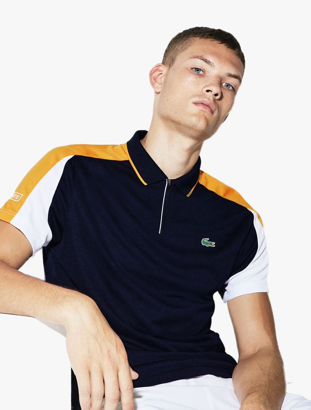 Tennis Pique Zip Lacoste Bands Contrast Polo Neck Men's Sport DYEH9IW2e